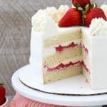 Wedding Cake Recipes This Strawberry Mascarpone Cake is layered with a homemade moist vanilla cake, a fresh strawberry filling and mascarpone whipped cream. It's the perfect combination for a strawberries and cream cake. Mini Cakes, Cupcake Cakes, Muffin Cupcake, Mascarpone Cake, Mascarpone Cream Recipe, Whipped Cream Cakes, Mascarpone Recipes, Moist Vanilla Cake, Cake Toppers