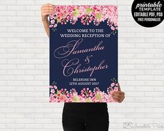 Navy Wedding Welcome poster by Incredible Prints on @creativemarket