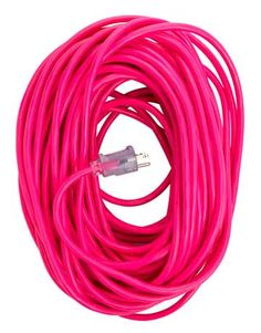 For the handy woman, a pink extension cord!