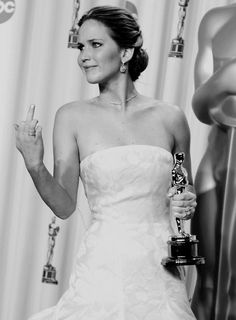 Jennifer Lawrence, you go girl! Its even better in black and white!