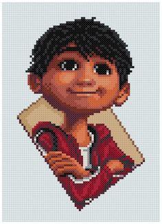 Beaded Cross Stitch, Cross Stitch Art, Cross Stitching, Cross Stitch Patterns, Pearler Bead Patterns, Perler Patterns, Motifs Blackwork, Collection Disney, Disney Films