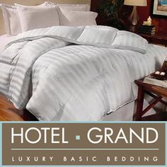 @Overstock - Constructed of soft 800 thread count cotton, this oversized comforter is filled with Hungarian white goose down. This comforter has a 1-inch gusset for maximum loft and is finished with a cabana stripe pattern.http://www.overstock.com/Bedding-Bath/Hotel-Grand-Milano-800-Thread-Count-Hungarian-White-Goose-Down-Comforter/264674/product.html?CID=214117 $229.99