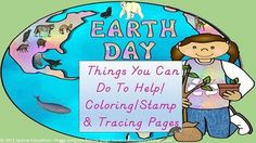 This is a fun (all pages are locked, so nothing is editable due to restricted graphics) packet of Earth Day stamps/coloring/tracing pages.  Each page has a helpful hint to learn more about helping the Earth!  The 27 pages in this packet have different levels of text difficulty - all are traceable.