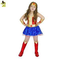 Resultado de imagen para disfraz mujer maravilla niña