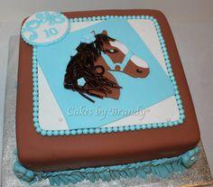 just horsing around horse themed birthday cake