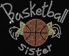 Basketball Sister- Youth Girl Shirts by BlingU on Etsy