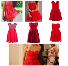 Red dresses. Endless love jade butterfield red dress party look