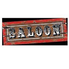 Wild West Saloon Sign