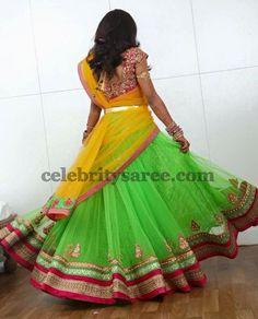 Light Green Half Saree Rich Blouse | Saree Blouse Patterns