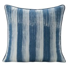 SPUN™ by Welspun BrushedHandcrafted Throw Pillow in Navy/White - BedBathandBeyond.com