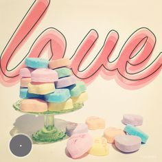Sweetheart candies from Puglyfeet #colors #design
