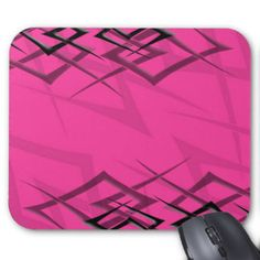 Office Pink And Black Mouse Pads and Office Pink And Black Mousepad Designs