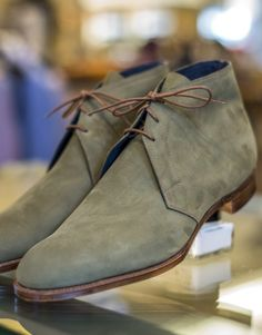 Edward Green, cherwell in sage nubuck