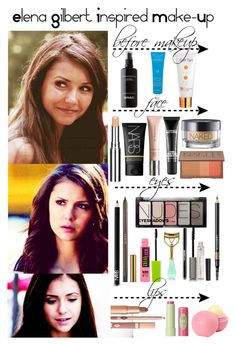"""The Vampire Diaries - Elena Gilbert Inspired Make-Up"" by staystronng ❤ liked on Polyvore"
