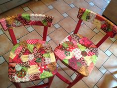 Painted & Decopatched high chairs for the bar room .....must do the remaining x2???!