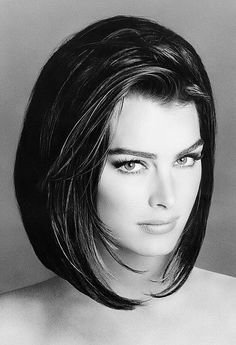 ACTORS IN BLACK AND WHITE.  Brooke Shields