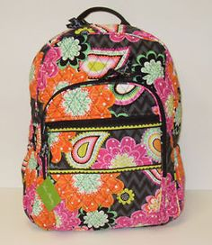 Vera Bradley - Ziggy Zinnia Campus Quilted Backpack. I almost bought this bag.
