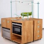 So cool! Moveable kitchen units