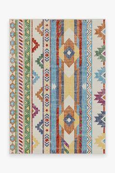 Option 3... Kilim Batik Multicolor Rug   Washable Rug   Ruggable
