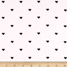 Riley Blake When Skies Are Grey Jersey Knit Heart Black