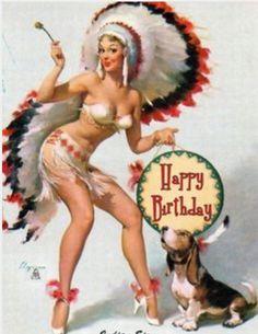 Pin Up - Happy birthday
