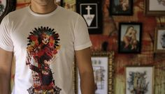 camiseta santa Catrina de Cerezo
