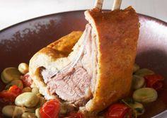 Recette de Carrés d'agneau en croûte de sel, ragoût de fèves   Guy Demarle