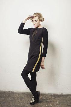 PENCEY. V Dress in Black