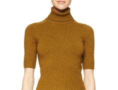 Michael Kors Collection Half-Sleeve Cashmere Sweater