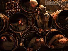 Dwarves in barrels - The Hobbit (Entertainment Weekly exclusive)