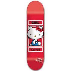 "Girl Sanrio Series Skateboard Deck 7.875"" Carroll Hello Kitty"