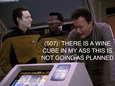 """Texts From Star Trek: The Next Generation"" Takes ""Texts From Last Night"" To Interstellar Levels Of Greatness Texts From Last Night, Drunk Texts, William Shatner, Big Night, Interstellar, The Next, Yolo, Star Trek, Sci Fi"