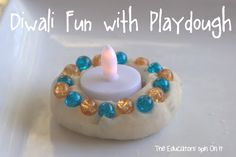 Learn how to make Diyas for Diwali with Kids with just playdough and beads. An India inspired hands on craft for kids for Diwali. Here's a fun way to learn about another culture with your Diwali For Kids, Diwali Craft, Diwali Diy, Diwali Food, Crafts For 3 Year Olds, Diy Crafts For Kids, Art For Kids, Craft Ideas, Diwali Celebration