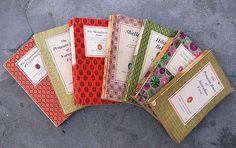 Penguin poetry books with amazing patterned covers