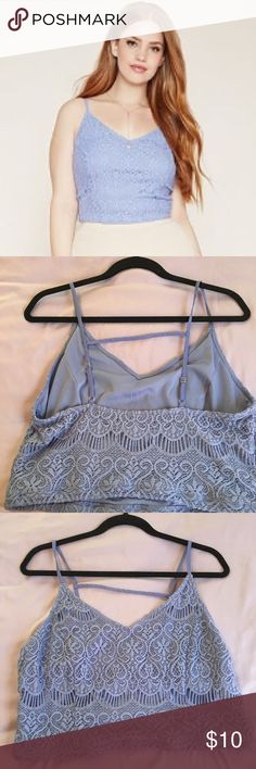 Forever 21 plus size crochet cami Periwinkle/light purple blue plus size crochet cami from Forever 21 •ALL OFFERS WELCOME 💕 Forever 21 Tops Camisoles