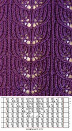 Knitting Machine Patterns, Lace Knitting Patterns, Knitting Stiches, Knitting Charts, Lace Patterns, Knitting Designs, Crochet Stitches, Hand Knitting, Stitch Patterns