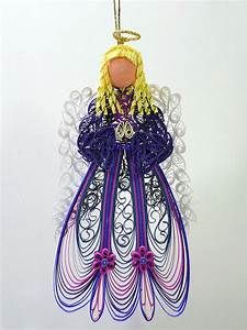 Quilled / Filigree Ornament Heavenly Angel Adorned in an
