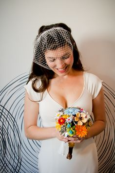 Antique brooches make a one of a kind boquet