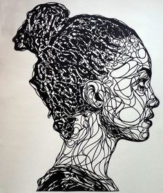 Paper cut portrait by Kris Trappeniers