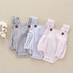PHB12119 summer striped baby girls catalogue design for rompers