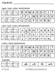 letter sound assessment i like the format and can see using it for other