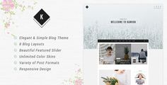 Kamion - Responsive WordPress Blog Theme Kamion is a charming blog theme which will totally satisfy you and your blog desire with clean aesthetic and straightforward functionality. The design is clean, elegant, lightweight and 100% responsive layout using bootstrap framework. It's easy to customize, seo friendly and faster loading wordpress theme , with custom sidebar also has widget area which will give your site professional look.