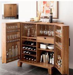 miejsce na alkohol mini barek bar gdzie w domu umieścić alkohol inspiracje pomysły rozwiązania 09