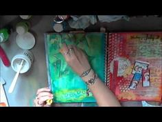 ▶ Art Journal Technique - YouTube