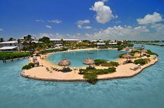Hawks Cay Island Resort, in the Florida Keys, has one of the best pools (and beaches) in Florida.