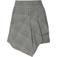 Tibi     Jasper Suiting Skort (1.085 BRL) ❤ liked on Polyvore featuring skirts, grey, tibi and golf skirts