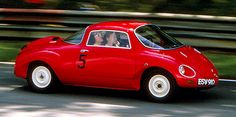 """Vignale Abarth 750 Coupe 'Goccia' 1957, built as a study in aerodynamics with the ambition of establishing a world speed record in it's class, the """"Goccia"""" used an..."""
