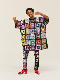 Steve Lacy Interview: A Calabasas Encounter at Erewhon | GQ Mode Crochet, Knit Crochet, Crochet Clothes, Diy Clothes, Knit Fashion, Mens Fashion, Steve Lacy, Bunt, Mantel