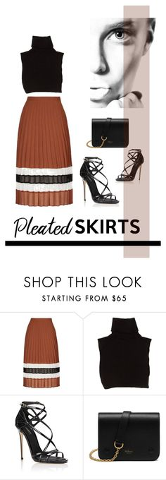 """Untitled #791"" by lulubelle1972 ❤ liked on Polyvore featuring Topshop, Marc Jacobs, Dolce&Gabbana, Mulberry and pleatedskirts"