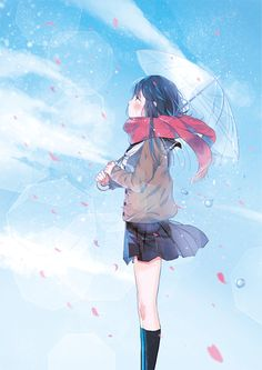 e-shuushuu kawaii and moe anime image board Moe Anime, Kawaii Anime, Aoi Art, Rain Illustration, Anime School Girl, Anime Girls, Anime Galaxy, Umbrella Girl, Digital Art Anime